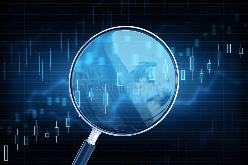 De voorspelling en investeert concept stock illustratie
