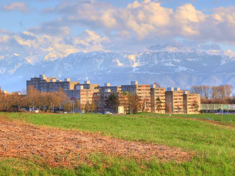 De voorstad van Bourdonnette, Lausanne royalty-vrije stock fotografie