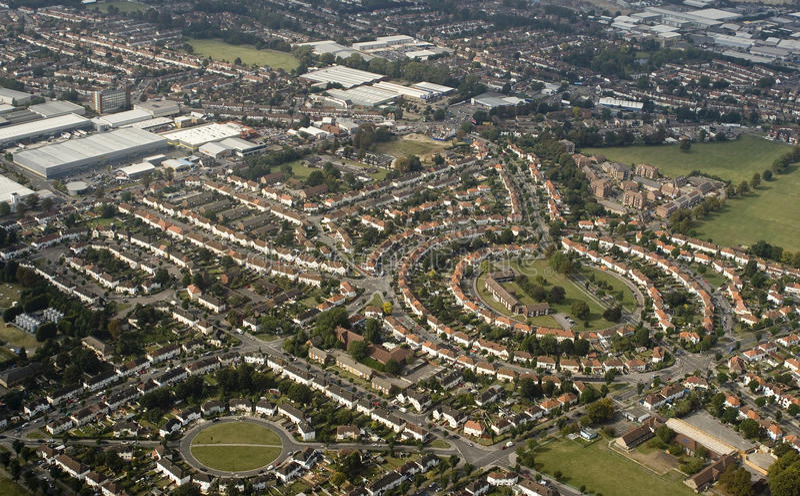 De voorsteden van Londen royalty-vrije stock afbeelding