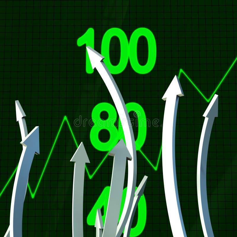 De vooruitgangspijlen vertegenwoordigt Bedrijfsgrafiek en Analyse stock illustratie