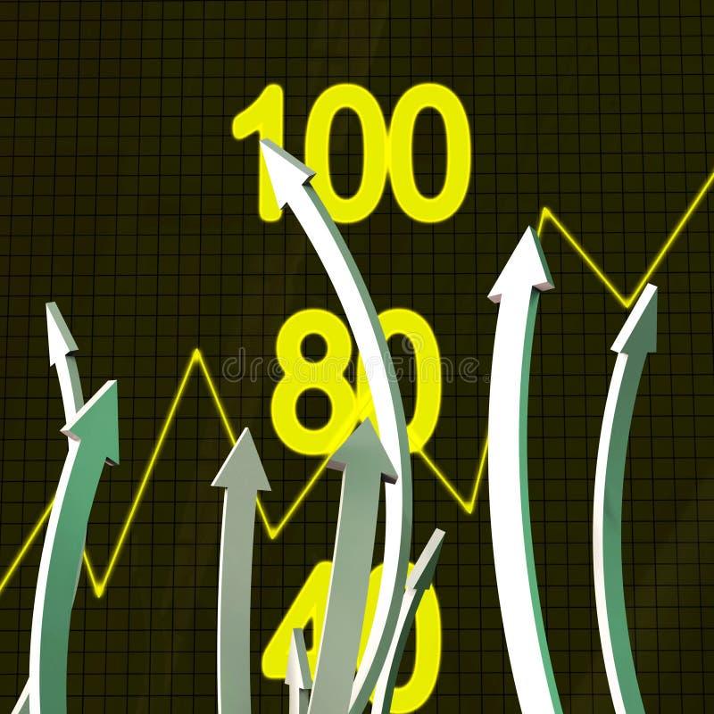 De vooruitgangspijlen vertegenwoordigt Bedrijfsgrafiek en Vooruitgang vector illustratie