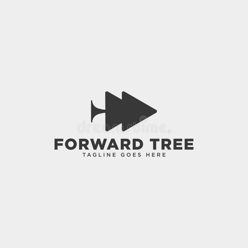 de voorwaartse boom plant het eenvoudige ge?soleerde element van het de illustratiepictogram van het embleemmalplaatje vector royalty-vrije illustratie