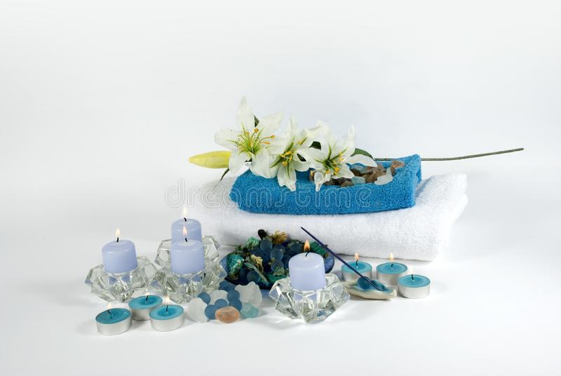 Aromatherapyvoorwerpen voor kuuroord royalty-vrije stock fotografie