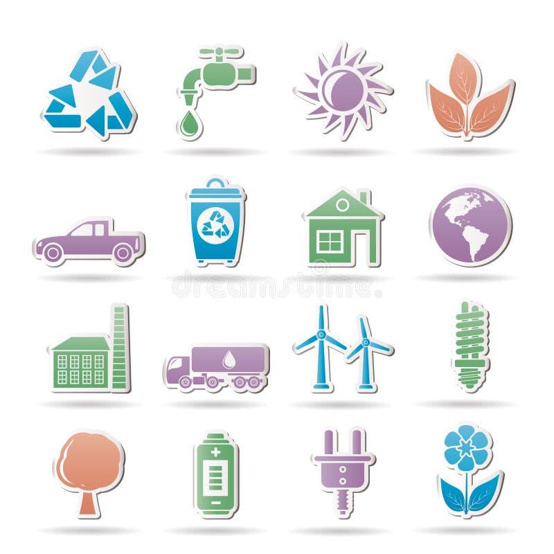 De voorwerpen van de ecologie en van het milieu vector illustratie