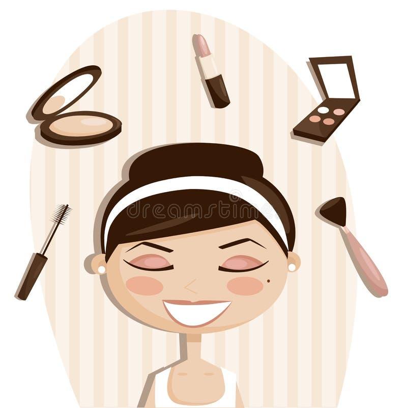De voorwerpen van de make-up vector illustratie
