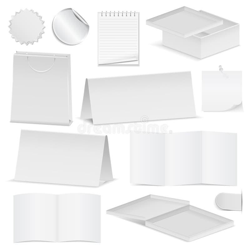 De voorwerpen van het document stock illustratie