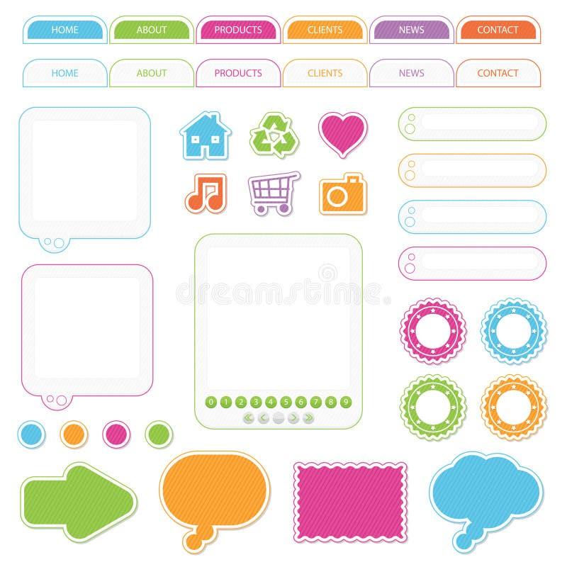 De voorwerpen van het Web royalty-vrije illustratie