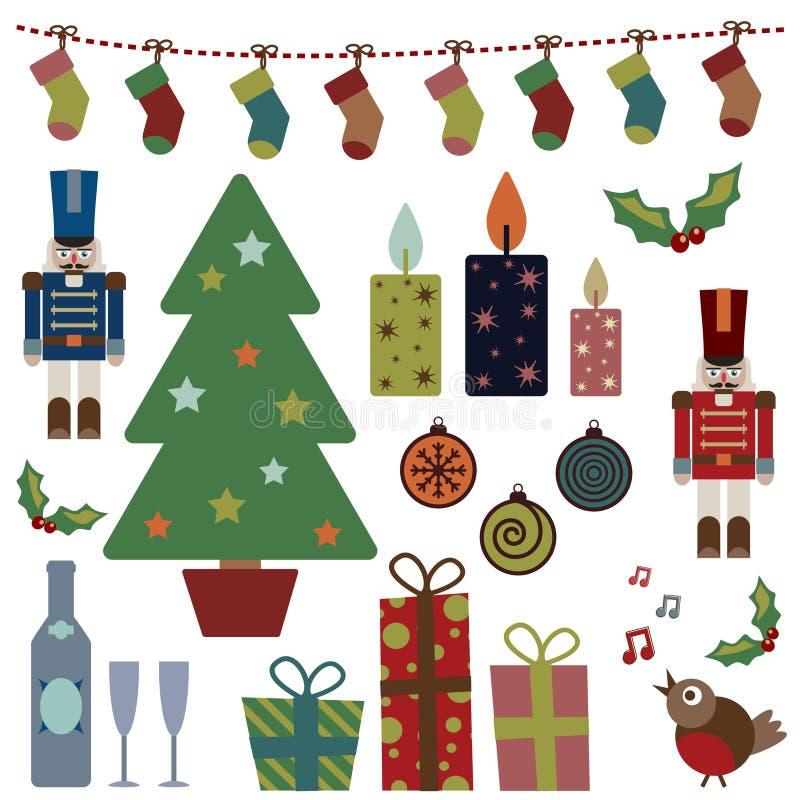 De voorwerpen van Kerstmis royalty-vrije illustratie