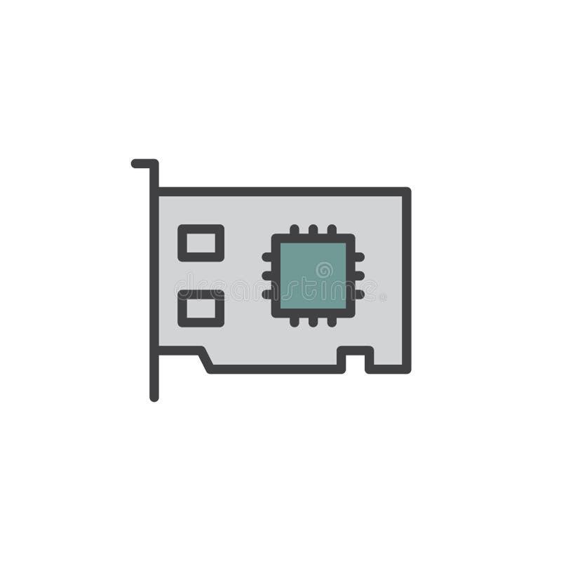 De voorzien van een netwerkkaart vulde overzichtspictogram vector illustratie