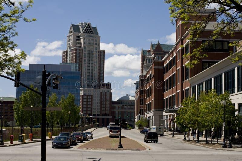De Voorzienigheid van de binnenstad, Rhode Island stock afbeeldingen