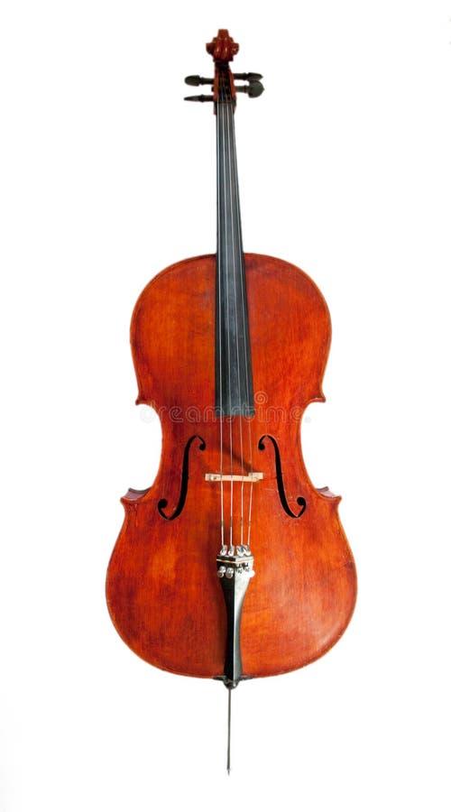 De voorzijde van de cello royalty-vrije stock afbeelding