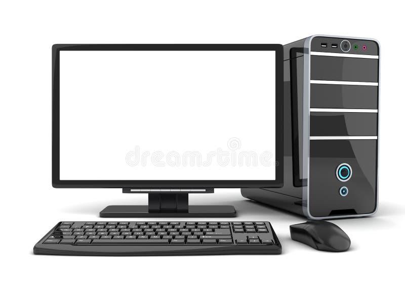 De voorzijde van de computermening stock illustratie
