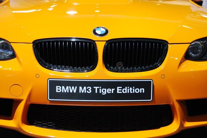 De voorzijde van de de tijgeruitgave van BMW m3 royalty-vrije stock afbeelding