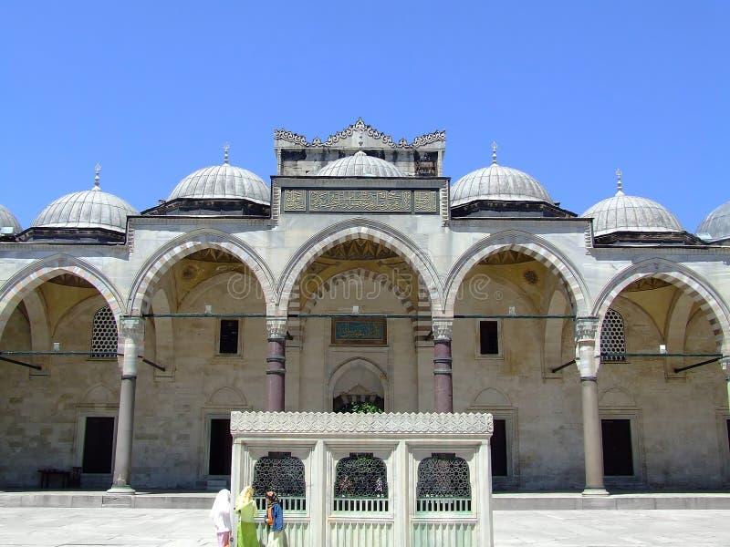 De voorzijde van de moskee royalty-vrije stock foto