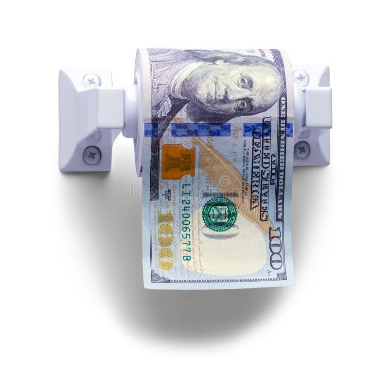 De Voorzijde van het geldtoiletpapier royalty-vrije stock foto's