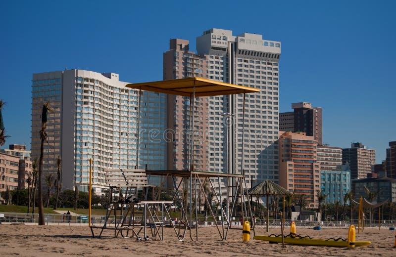 De voorzijde van het strand, Durban, Zuid-Afrika royalty-vrije stock foto's