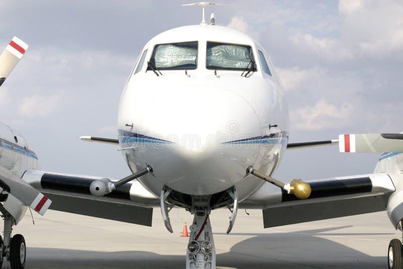 De Voorzijde van het vliegtuig royalty-vrije stock afbeelding