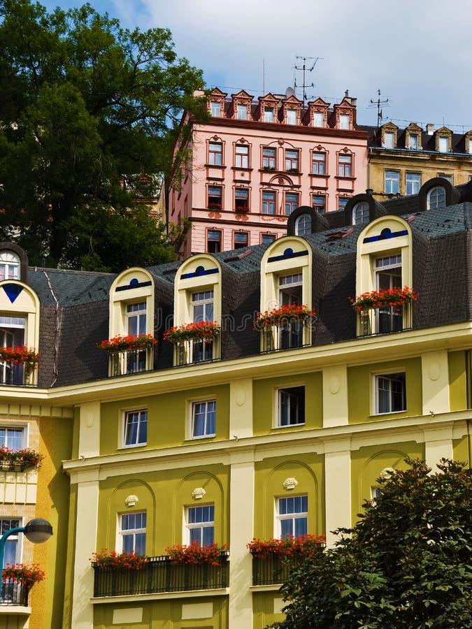 De voorzijde van hotels stock foto's