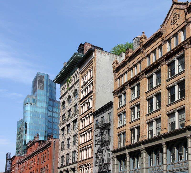 De voorzijden van Manhattan stock afbeeldingen