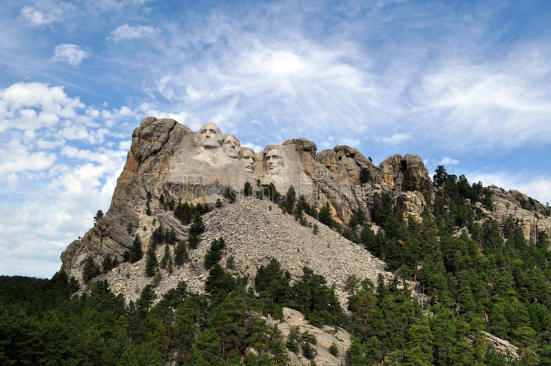 De Voorzitters op MT Rushmore in Zuid-Dakota stock afbeeldingen