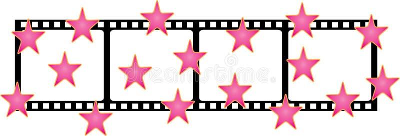 De vorm van de film met sterren stock foto