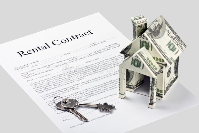 De vorm van de het contractovereenkomst van de huur royalty-vrije stock foto's