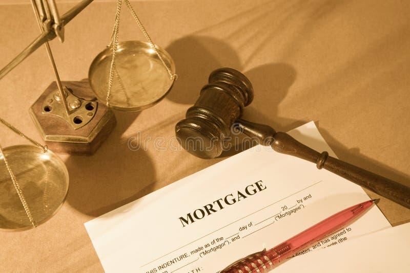 De vorm van de hypotheek stock foto