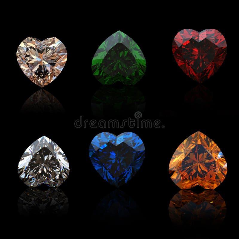 De vorm van de inzameling brilliants van hart royalty-vrije illustratie