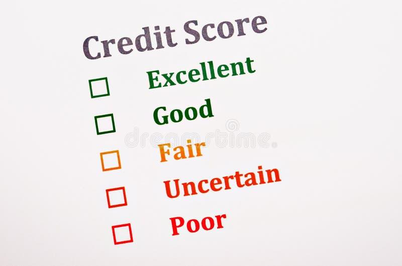 De vorm van de kredietscore royalty-vrije stock afbeeldingen