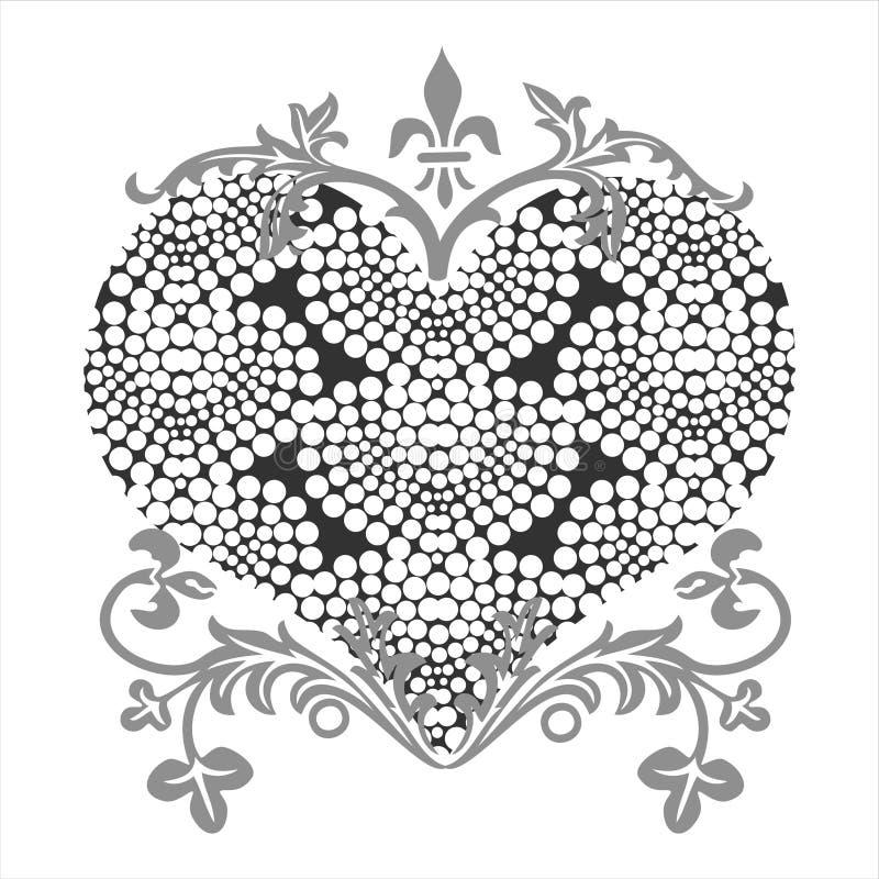 De vorm van de liefde royalty-vrije illustratie