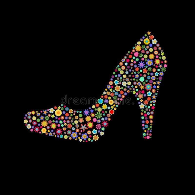 De vorm van de schoen stock illustratie