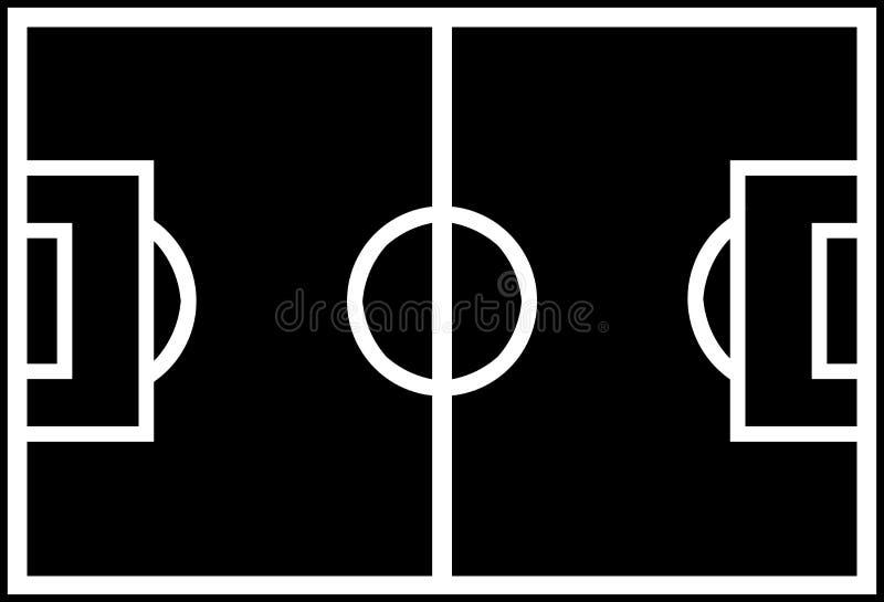 De Vorm van het Gebied van het voetbal stock fotografie