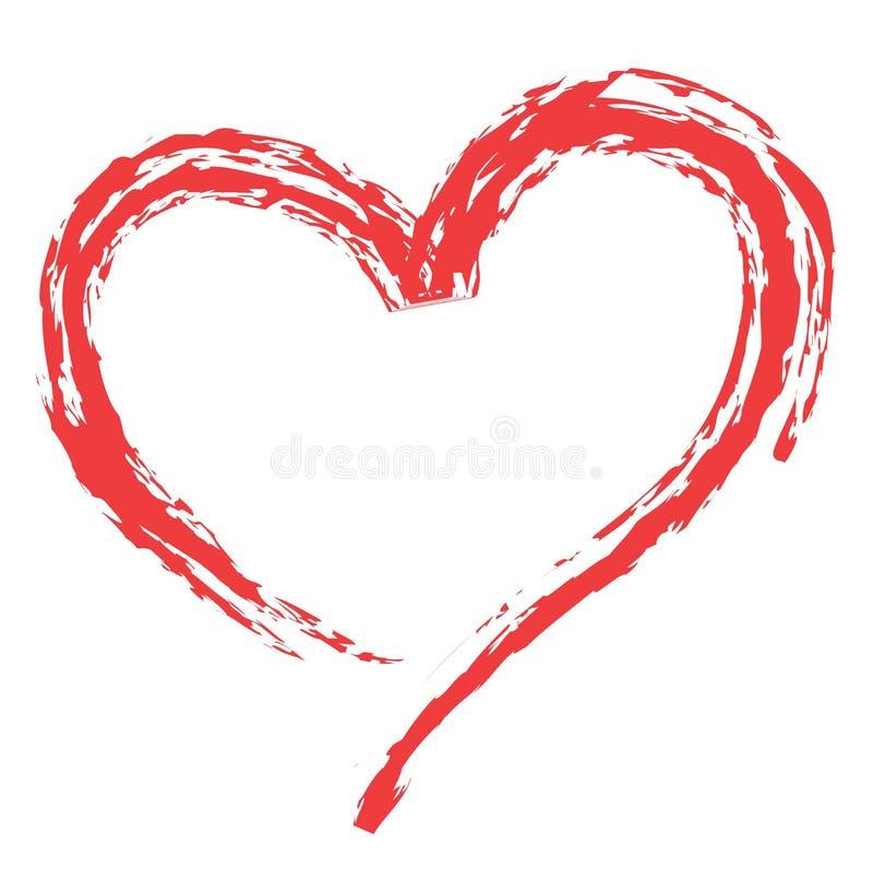 De vorm van het hart voor liefdesymbolen royalty-vrije illustratie