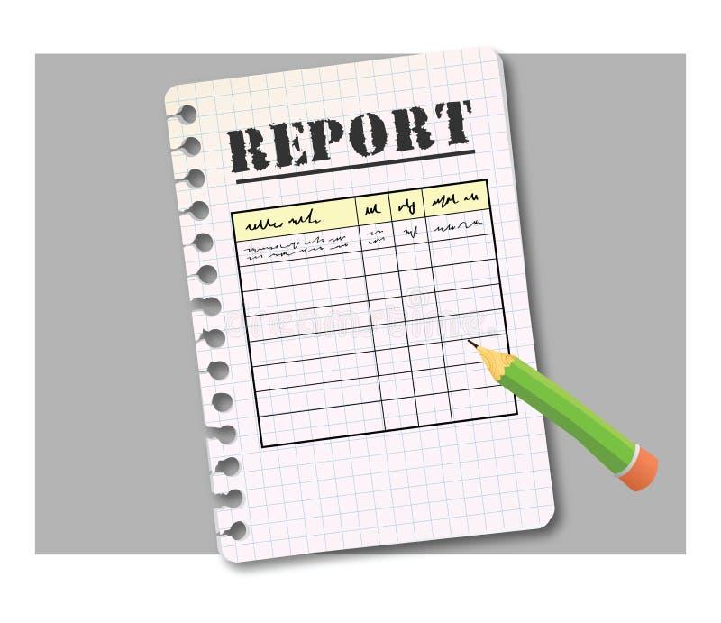 De vorm van het rapport vector illustratie