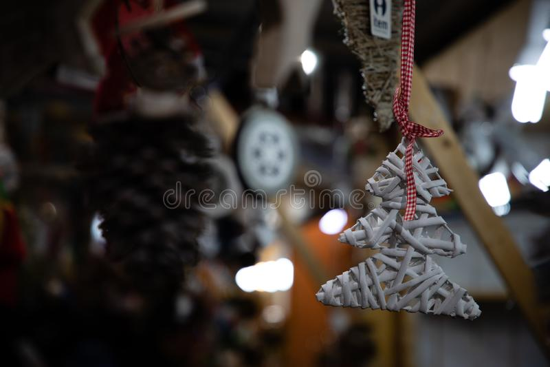 De vorm van de kerstboomdecoratie royalty-vrije stock afbeeldingen