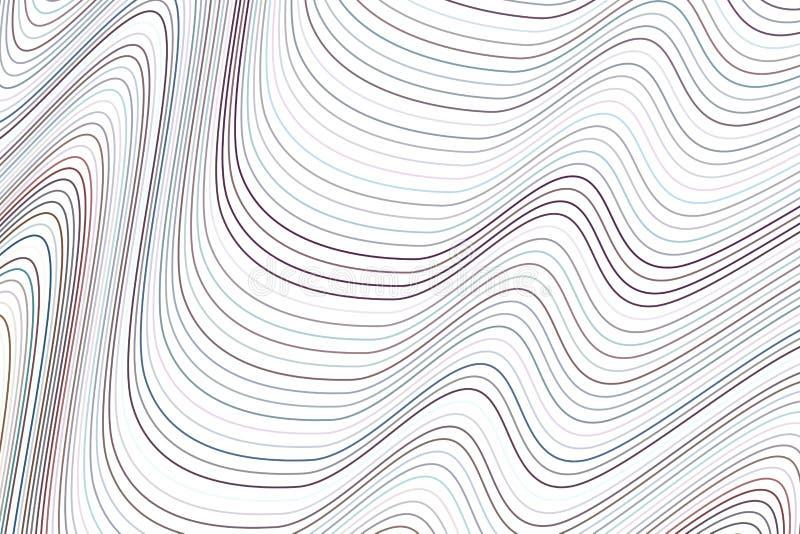 De vorm van lijn, kromme & golf, vat geometrisch patroon samen als achtergrond Illustratie, creatief, vector & oppervlakte royalty-vrije illustratie