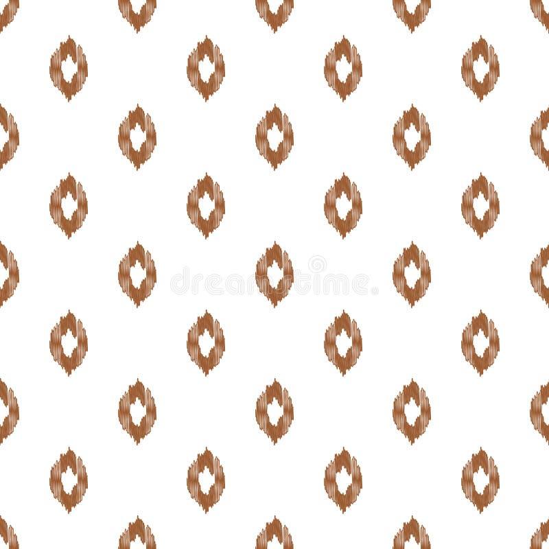 De vormen naadloze achtergrond van de Ikat eenvoudige daling Vector illustratie vector illustratie