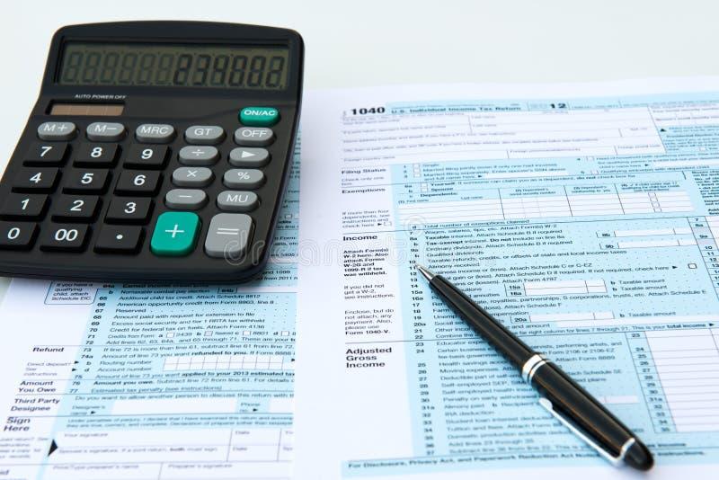 De vormen van de belasting royalty-vrije stock afbeeldingen
