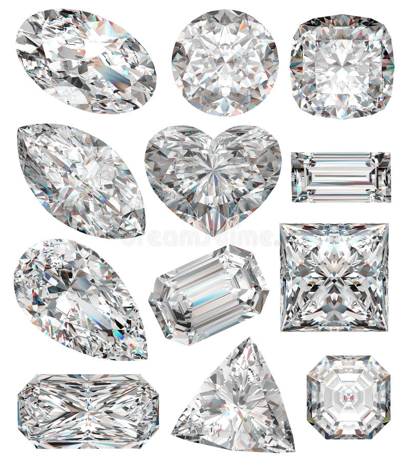 De vormen van de diamant. stock illustratie