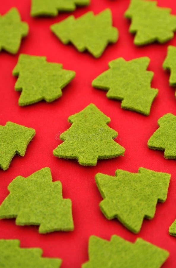De vormen van de kerstboom stock foto's