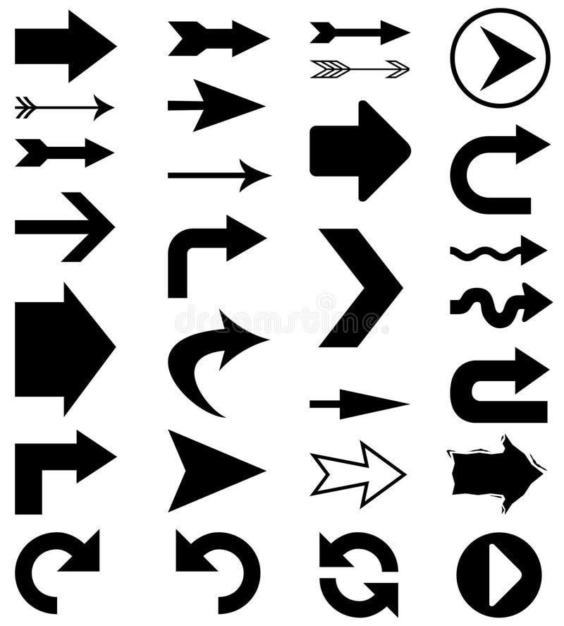 De vormen van de pijl royalty-vrije illustratie