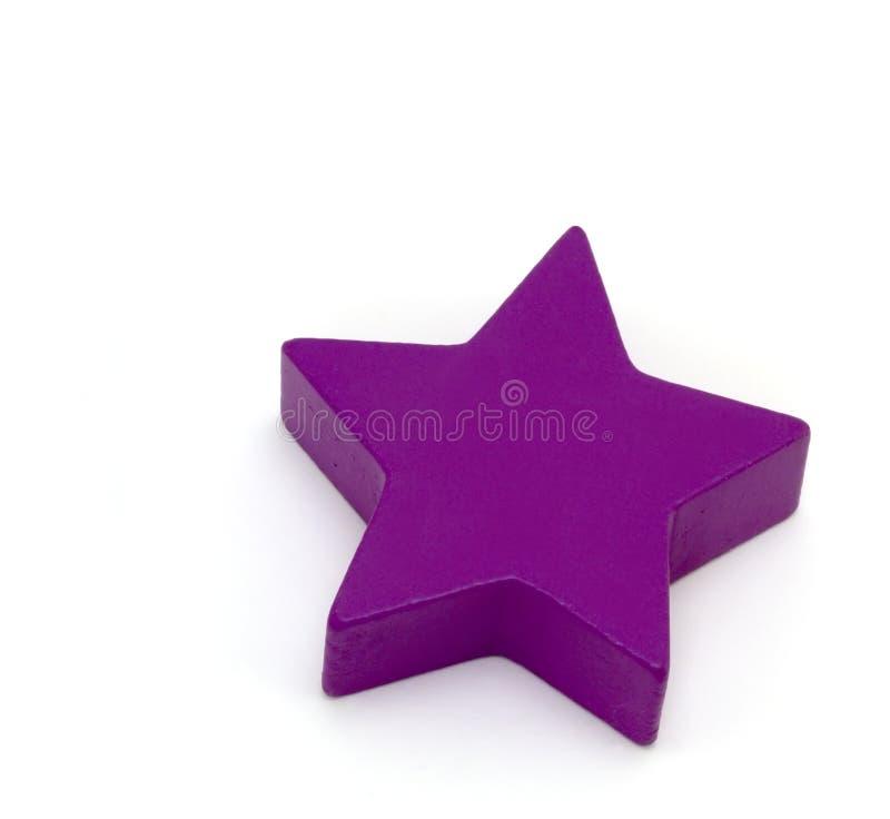 De vormen van het stuk speelgoed - Purpere Ster stock afbeeldingen