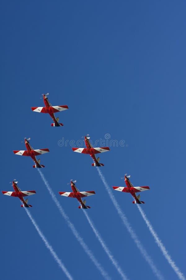 De Vorming van Aerobatic stock afbeeldingen