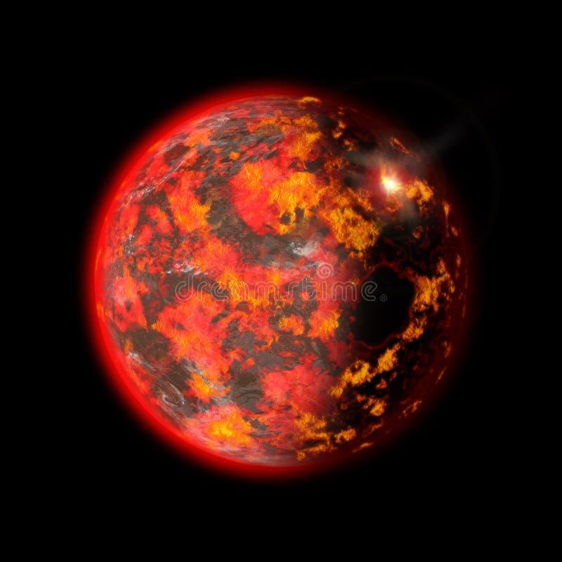 De Vorming van de aarde vector illustratie