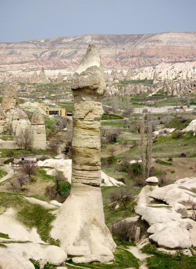 De vorming van de de valleirots van de Cappadocialiefde in Turkije royalty-vrije stock foto