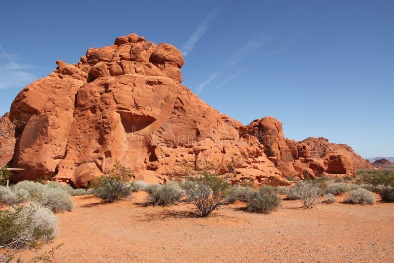 De vorming van de rots bij Vallei van het Park van de Staat van de Brand stock fotografie