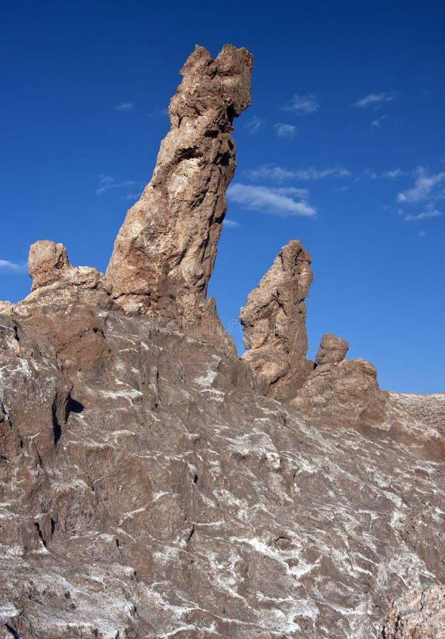 De Vorming van de rots in de Woestijn Atacama - Chili royalty-vrije stock fotografie