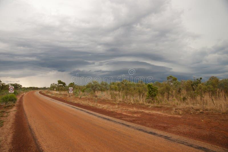 De Vorming van het Supercellonweer - Australië royalty-vrije stock foto