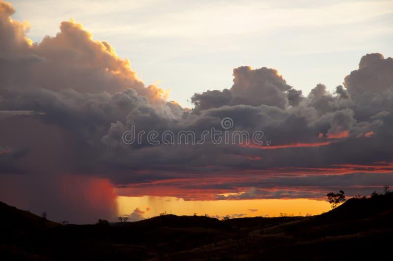 De Vorming van het Supercellonweer - Australië stock foto