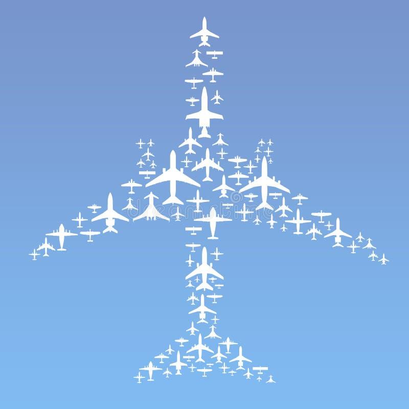 De Vorming van het vliegtuig vector illustratie